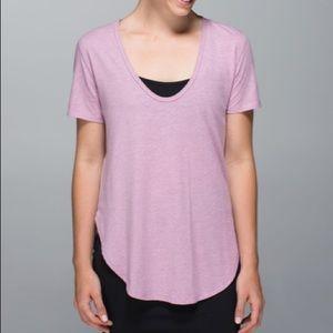 Lululemon Heather purple T-shirt